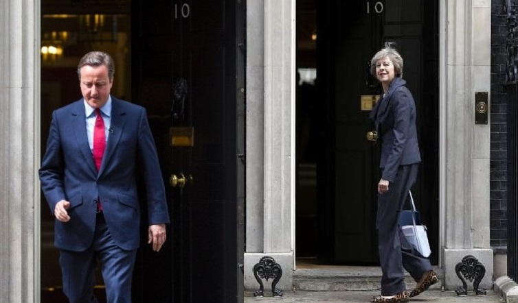 Cameron heads out, May goes in: at No 10 Downing Street