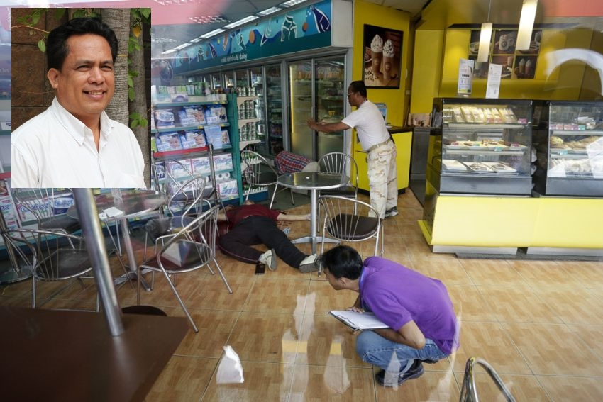 Political activist Kem Ley after he was fatally shot by a gunman at a CalTex service station in Phnom Penh.