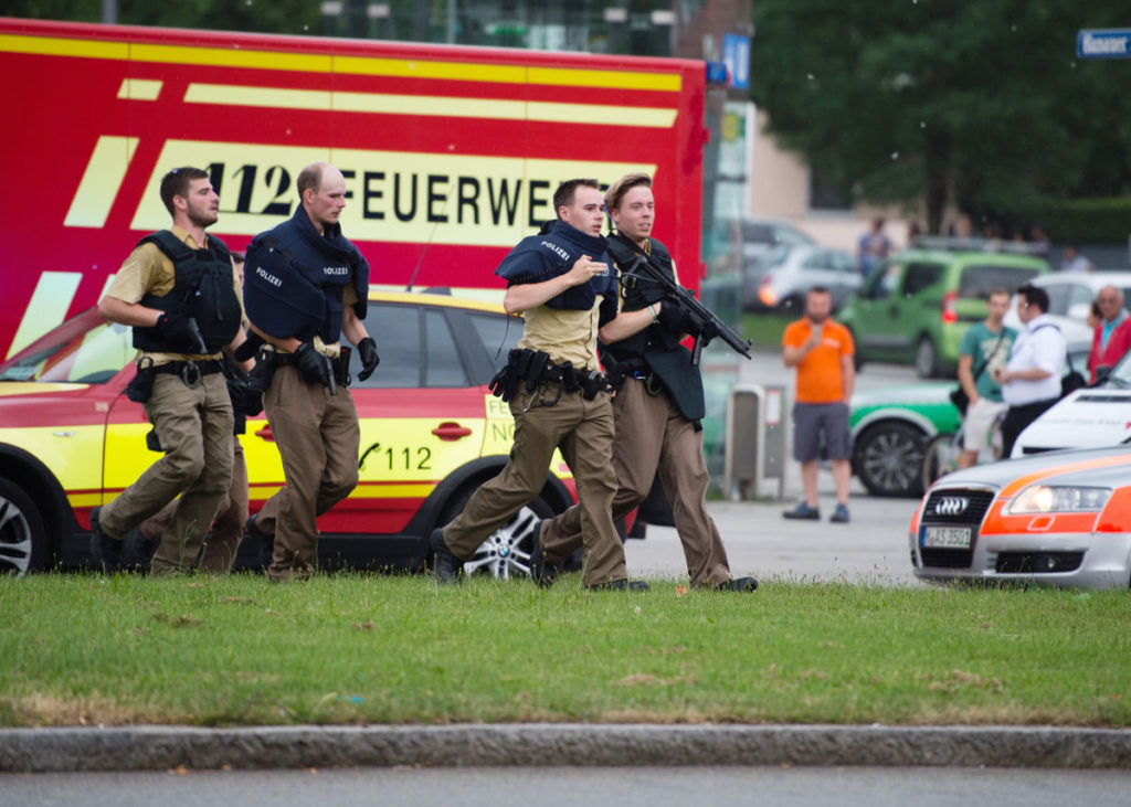 The attack in the Bavarian capital sparked a massive security operation as authorities - already on edge after the recent attacks in Wuerzburg and Nice, France
