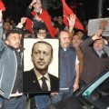 Citizens loyal to President Recep Tayyip Erdogan celebrate after coup quashed.