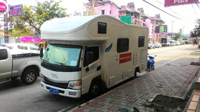 Chinese drove motorhomes to Chiang Rai to do away with the need to use local accommodation.