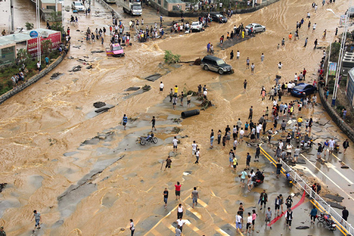 Floods in China Kill Over 100 and Wipe Out 1.9 million Hectares of Crops