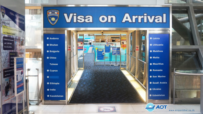 Thailand's Immigration Doubles Visa on Arrival Fee