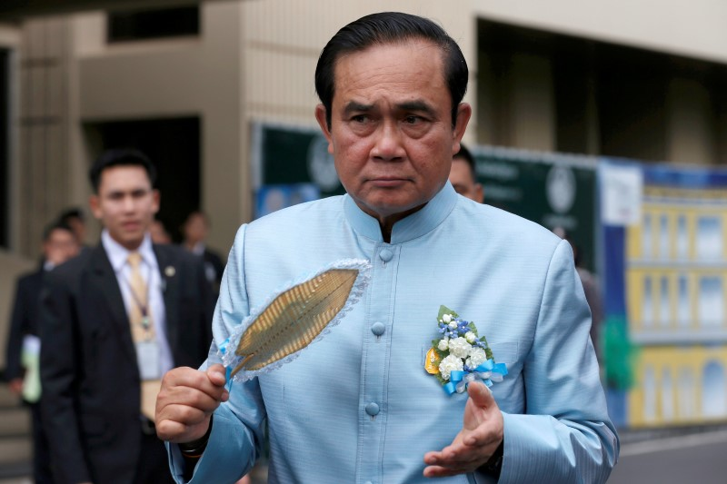 Thailand's Prime Minister Prayuth Chan-ocha arrives at a weekly cabinet meeting at government house in Bangkok, Thailand, August 2, 2016.