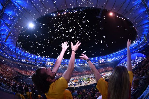 Sunday's party was all about Brazil, designed to be more low-key than the opening, which focused heavily on Rio.