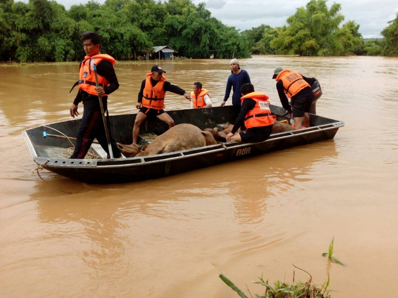 Nan province, bordering Laos,suffering extensive damage from flooding.