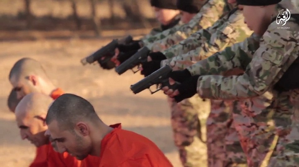 The horrific video shows the boys, who are all aged around 12 or 13, executing prisoners with handguns.