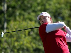 Ariya Jutanugarn of Thailand leads at Canadian Pacific Women's Open at Priddis Greens Golf and Country Club near Calgary, Alberta