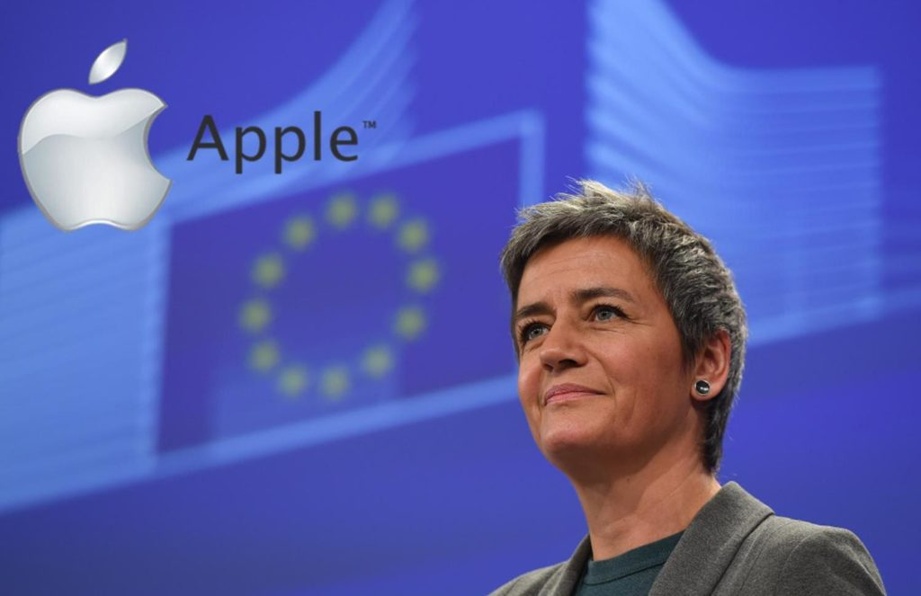 EU Competition Commissioner Margrethe Vestager said a three-year investigation found Ireland granted lavish tax breaks to Apple over many years.