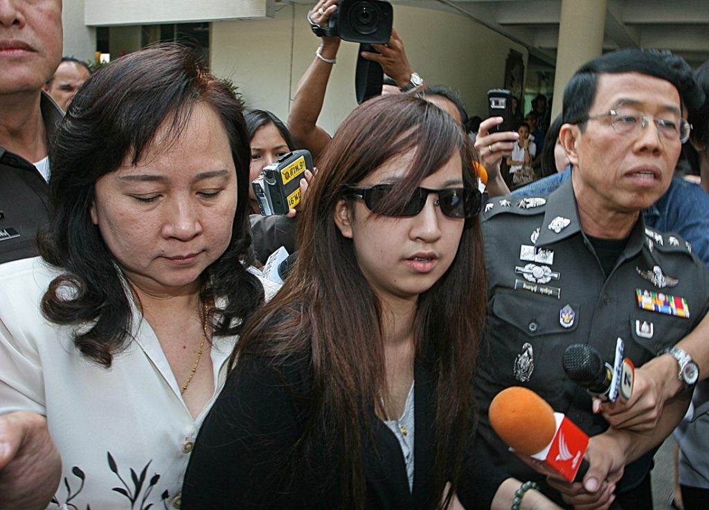 Praewa, who was 17 at the time of the crash, was also banned from driving until the age of 25.