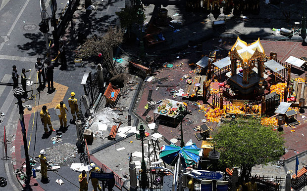 They are suspected of bombing of the Erawan shrine in Bangkok