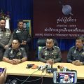 Pol Gen Sriwara Rangsipramanakul, a deputy national police chief, briefs the media on latest developments in the investigation into last week's bombings