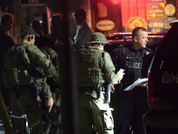 A police operation continued well into the evening in the southern Ontario town of Strathroy