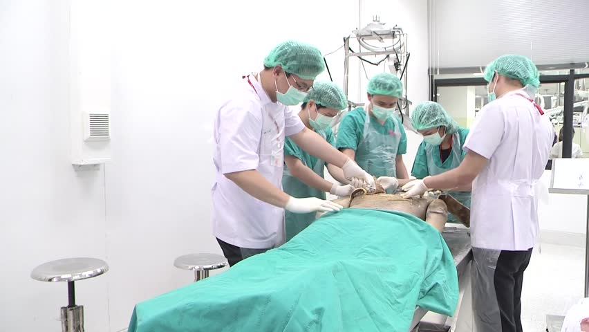A dismembered body of a foreign man was sent for a computed tomography autopsy at Thammasat University Hospital