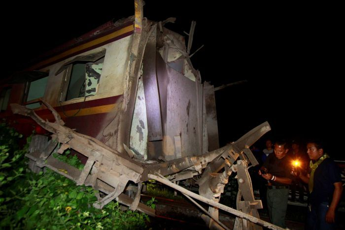 Railway Boming Kills One Injures Three in Southern Thailand