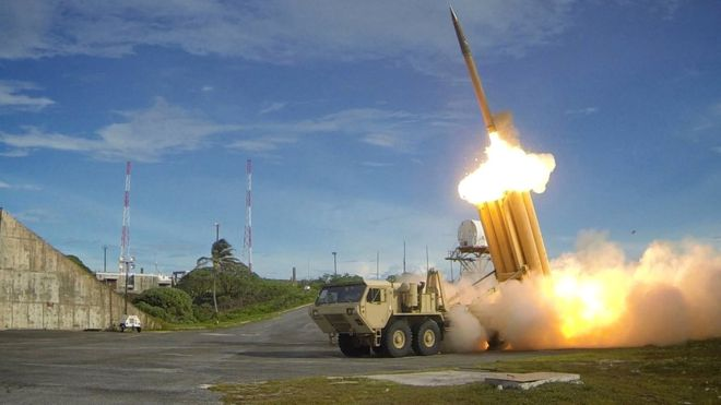 The Terminal High Altitude Area Defense (THAAD) anti-missile system will be deployed solely to counter the threat from Pyongyang