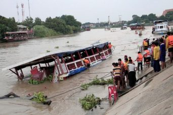 The accident happened near the ancient city of Ayutthaya, a popular tourist attraction, although no foreigners were believed to be among the dead