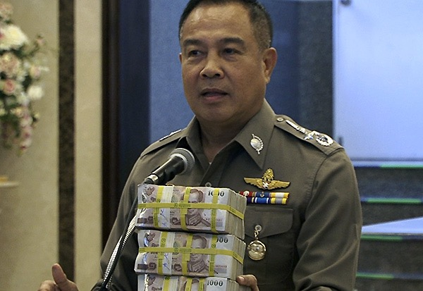 Former Police national police chie Gen. Somyot Poompanmoung offering reward money