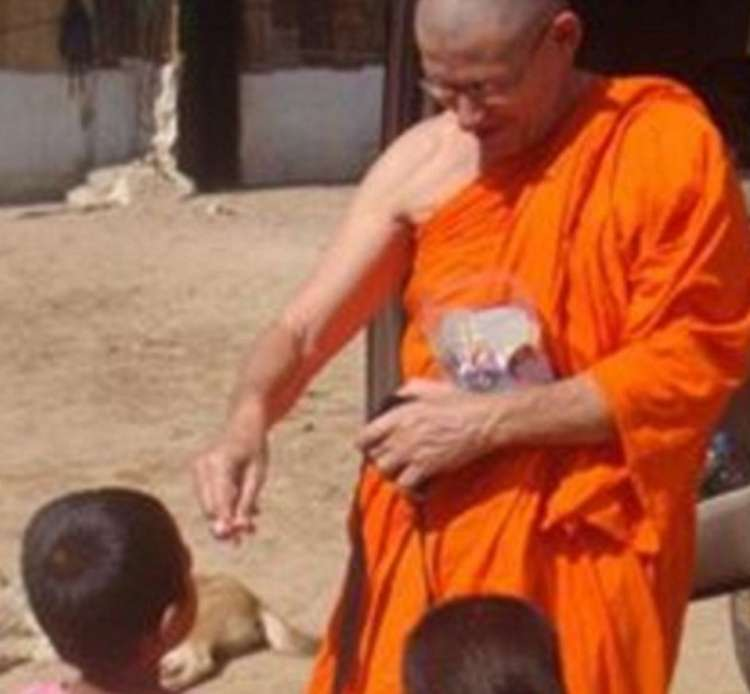He was ordained as a monk in Chiang Mai years ago,