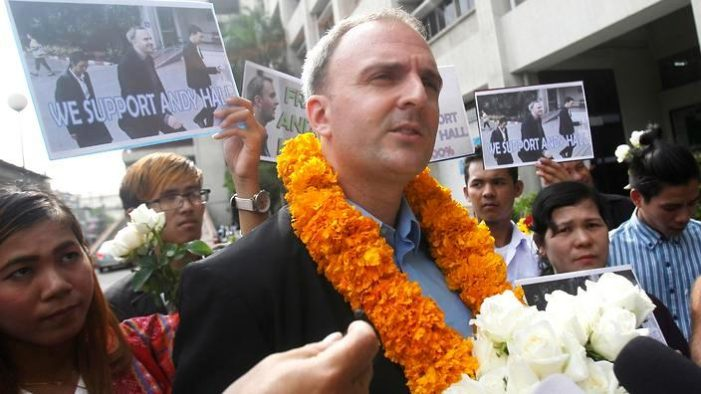 Bangkok Court Finds British Human Rights Activist Andy Hall Guilty of Defimation