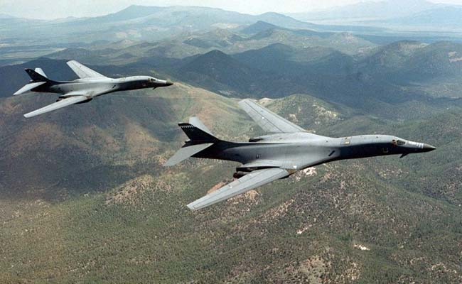 The flight by a pair of B-1B Lancer strategic bombers based in Guam was a show of force and of U.S.