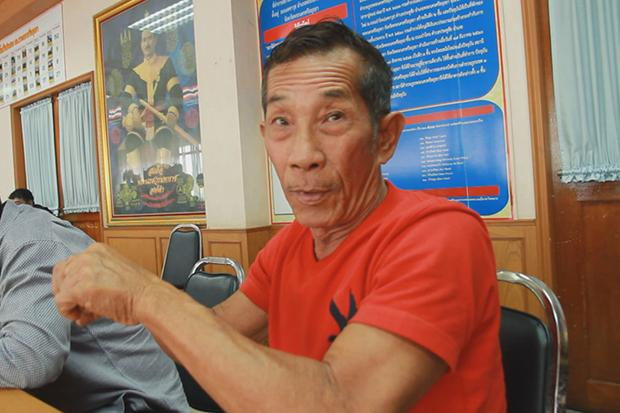Boat driver Virat Chaisirikul, 67, denies he acted carelessly and caused the fatal ferry crash and sinking. (Photo by Sunthon Pongpao)