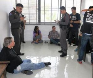 Officers arrested a Briton, two Americans and two Myanmar nationals