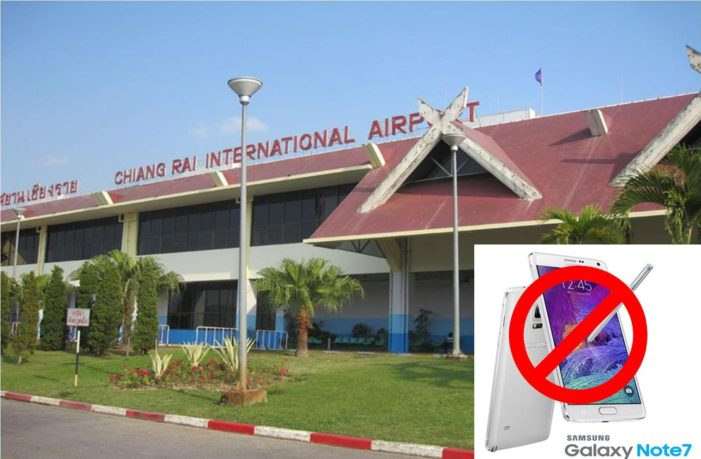 Airports of Thailand Issues Warning on Carrying Galaxy Note 7 Smartphone