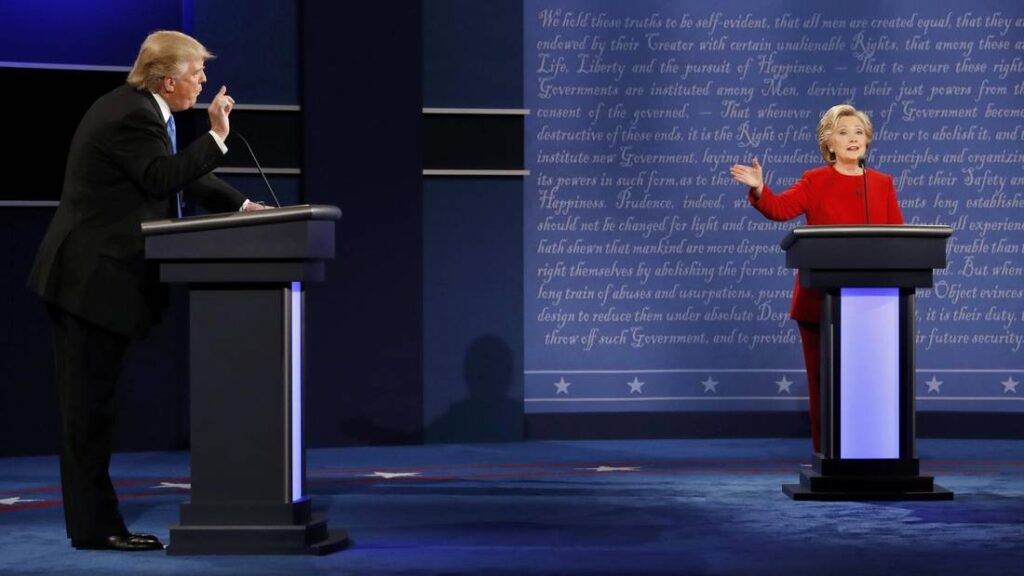 Clinton and Trump clash over their pasts and their plans in ferocious opening presidential debate
