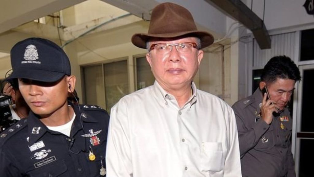 Sondhi, founder of the yellow-shirt People Alliance for Democracy was later escorted by security guards to Bangkok Remand Prison to serve his sentence.