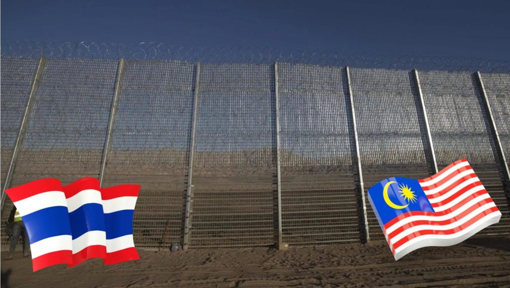 Thai foreign ministry officials said the wall along the 640-km (398-mile) Thai-Malay border is on the agenda for the meeting.