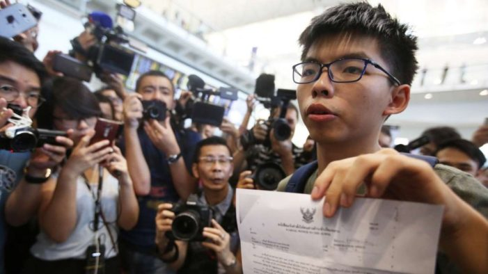 Thailand Refuses Entry to Hong Kong Teen Pro-Democracy Activist Joshua Wong