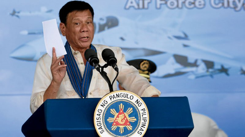 Duterte has railed against U.S. expressions of concerns about the high loss of life in his campaign against drugs and Washington's calls for due process.