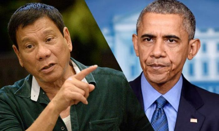 "Philippine President Duterte tells US President Obama ""You Can Go to Hell"""