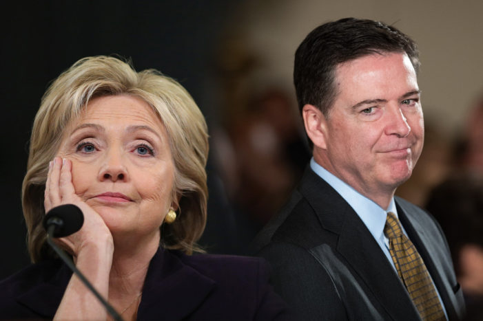 Hillary Clinton Blames FBI Director James Comey for her Defeat