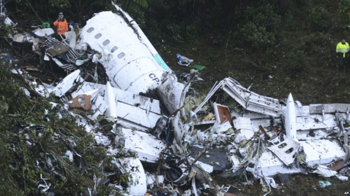 Plane Carrying Brazilian Soccer Team Crashes in Colombia, Only Six Survive