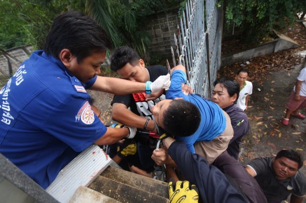11 Year-Old Thai Boy Survives Impaling Himself through the Neck While Attempting to Climb a Metal Gate