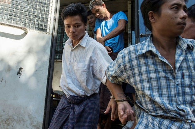 Tun Naing (Left) punched and kicked two toddlers and an eight-month-old baby to death last month.