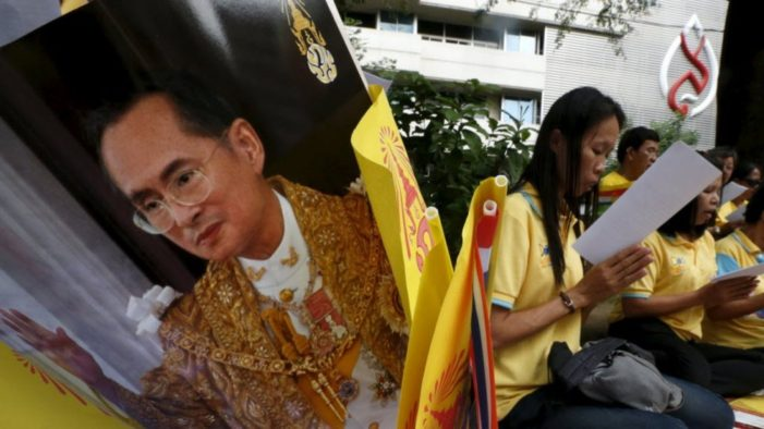 Thai Prime Minister Announces Nation Wide Oath-Taking Ceremony for the Late King