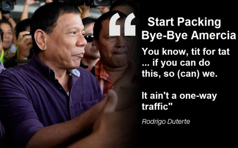Duterte declared he would chart a foreign policy course independent of Washington