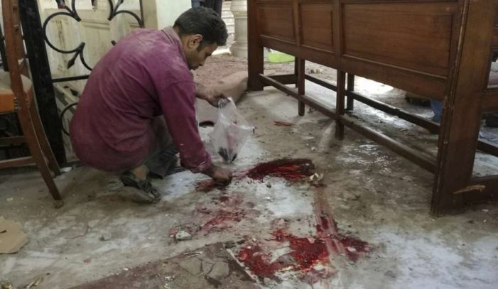 Bomb Kills 25 During Sunday Masss at St.Marks Cathedral in Cairo, Egypt