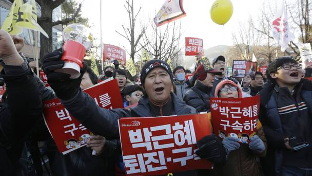 Thousands of South Koreans Celebrate Parks Impeachment in Seoul