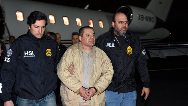 "Mexican Drug Lord Joaquin ""El Chapo"" Guzman Extradited to the United States"