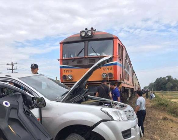 Train Collides with Truck in Surin, Thailand, Killing 5 Year Old Girl
