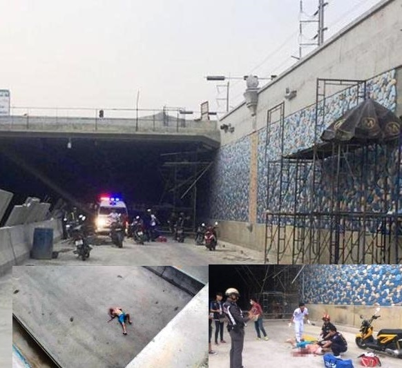 Live Video: Finnish Man Lucky to Be Alive after Jumping into Road Tunnel in Pattaya, Thailand