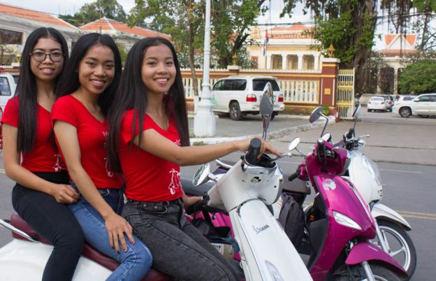 Young Cambodian Entrepreneur Launches Phnom Penh's First Female Motor-Scooter Tour Agency