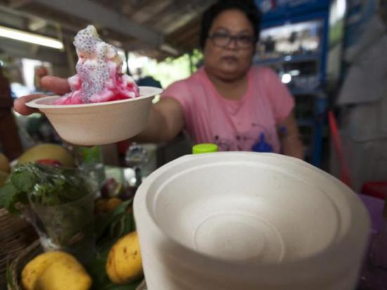 Street Food Vendors in Thailand Going Green with Zero-Waste Packaging Made from Bamboo