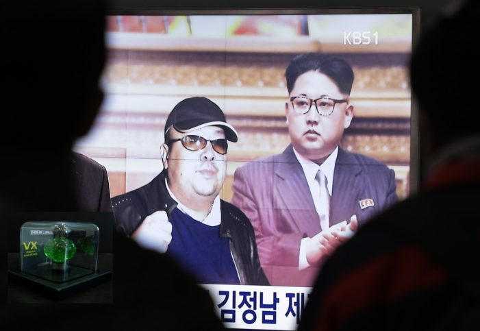 Malaysia Reports Banned VX Nerve Agent Used to Murder Kim Jong Nam