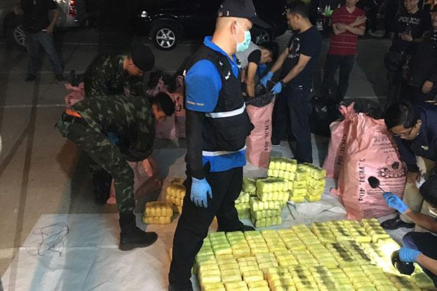 Thai Authorities Seize Huge Cache of Methamphetamine Being Transported from Chiang Rai's Golden Triangle