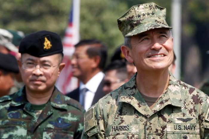 Admiral Harris Head of U.S. Pacific Command Stresses Democrocy as Cobra Gold Kicks Off in Thailand